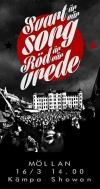 """Plakat aus Malmö: """"Schwarz ist unsere Trauer. Rot unsere Wut"""""""