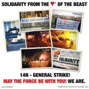 Fotokollage vom Antifa AK Köln