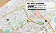 Lübeck, 26.3.2011: Naziroute und Blockadepunkte